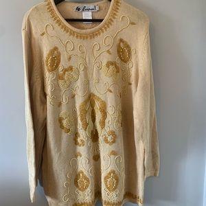 STUNNING / Beaded / Yellow / Sweater